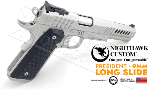 Nighthawk Custom 1911 President Stainless Steel Long Slide 9mm