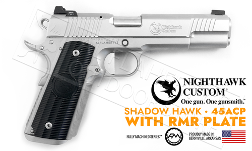 Nighthawk Custom 1911 Shadow Hawk Stainless 45 ACP with RMR Mount