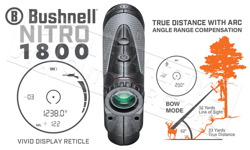 Bushnell Nitro 1800 Rangefinder 6X24mm in Gun Metal #LN1800IGG