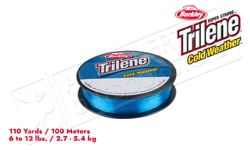 Berkley Trilene Cold Weather Fishing Line, Electric Blue, 110 Yard Spool, 6 - 12 lbs., #CWPSx-EB