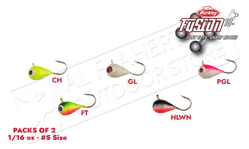 Berkley Fusion Tungsten Jigs 1/16 oz - Pack of 2 #FSN19TJ5