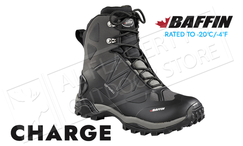 Baffin Charge Winter Hiker Black, Various Sizes #SOFTM004