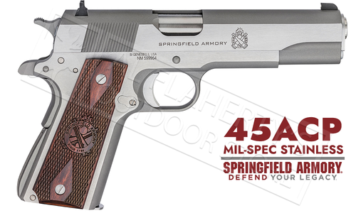 Springfield Armory 1911 Mil-Spec Stainless Steel - 45ACP #PB9151L