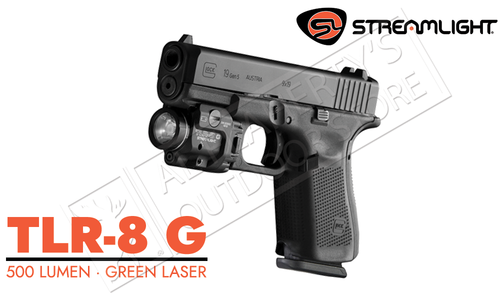 Streamlight TLR-8G Rail Mount 500 Lumen with Green Laser #TLR8G