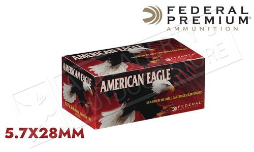 Federal American Eagle 5.7x28 FMJ 40 Grain #AE5728A