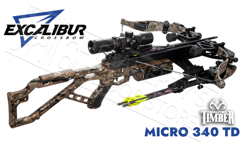 Excalibur Micro 340 Takedown Crossbow in Realtree Timber with Tact 100 Scope #E74118