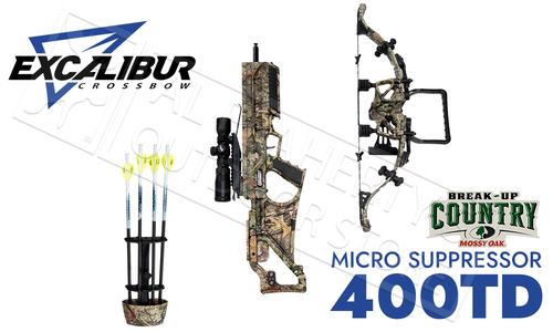 Excalibur Micro Suppressor 400 Takedown Crossbow MOBUC with Tact 100 Scope #E74170