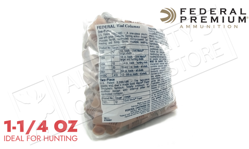 "Federal 12 Gauge Wads, 2-3/4"" 1 - 1-18 oz.250 Pack #12S4"