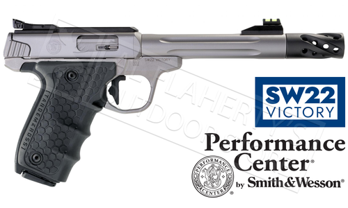 "Smith & Wesson SW22 Victory Target Model Fiber Optic Sights Pistol 22LR 6"" Barrel #12078"