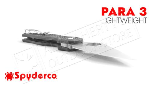 Spyderco Para 3 Lightweight Folder with PlainEdge #C223PBK