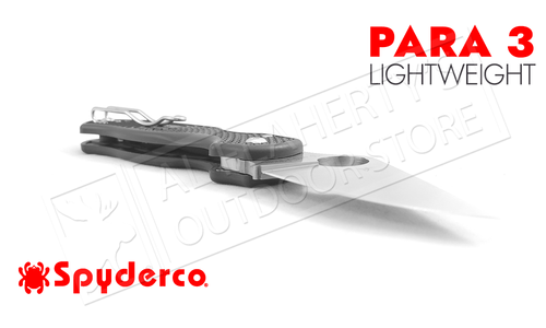 Spyderco Para 3 Lightweight Folder with PlainEdge #C223PBK