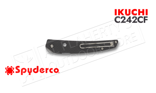 Spyderco Ikuchi Folder Carbon Fiber/G-10 Plain Edge #C242CFP