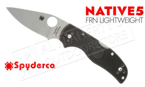 Spyderco Native 5 Folder FRN Lightweight Plain Edge #C41PBK5