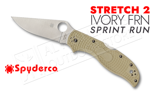 Spyderco Stretch 2 Straight Spine Ivory FRN SPRINT RUN #C90FIV2