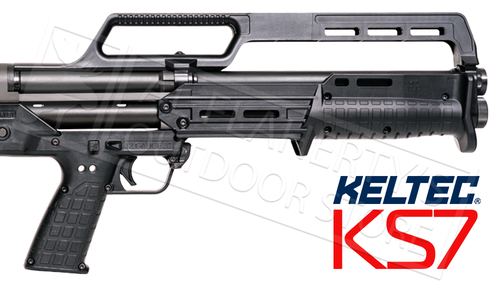 "Kel-Tec KS7 Pump Action Shotgun 12 Gauge 18.5"" Barrel 3"" Matte Black Finish"