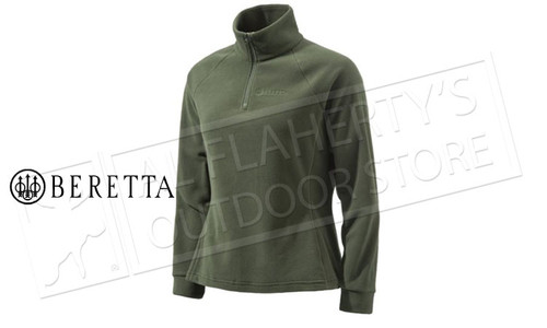 Beretta Half Zip Fleece in Green, Woman's XL-3XL #P3321T14340715