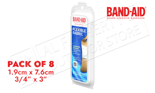 Band-Aid Flex Fabric 8 Pack Bandages #47544
