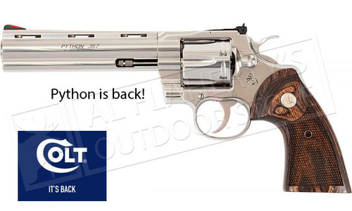 "Colt Python 357 with 4.25"" Barrel Stainless Steel #PYTHONSP4WTS"