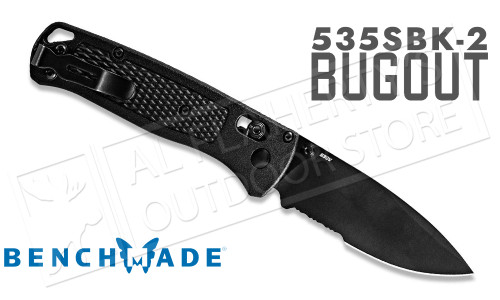 Benchmade 535 Bugout Axis Drop Point Folding Knife with CF-Elite Grip #535SBK-2