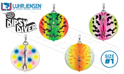 Luhr-Jensen Disy Diver Trolling Sinker, Size 1 #5560-001