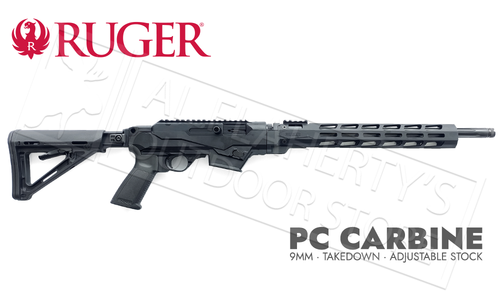 "Ruger PC Carbine 6-Position Stock, Handguard Non-Restricted, 9mm 18.6"" Barrel #19125"