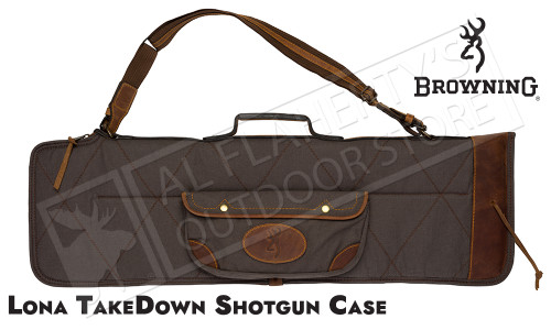 Browning Lona Takedown Over-Under Canvas and Leather Shotgun Case #1413886912