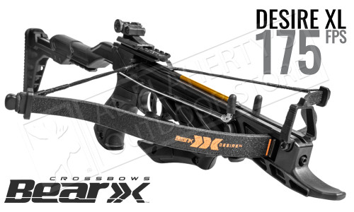 Bear Archery Desire XL Compact Pistol Crossbow with Adjustable Stock #AC90A0A360