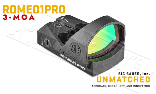 SIG Sauer Romeo1 Pro Red Dot Sight, 3MOA 1x30mm #SIGPSOR1P100