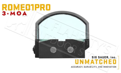 SIG Sauer Romeo1 Pro Red Dot Sight, 3MOA 1x30mm #SIGPSOR1P100