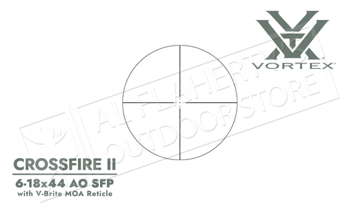 Vortex Crossfire II 6-18x44mm Scope with V-Brite MOA Reticle and Adjustable Parallax #CF2-31029