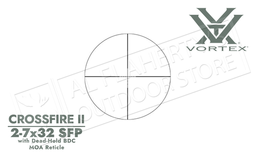 Vortex Crossfire II Scope 2-7x32mm with Dead Hold BDC Reticle #CF2-31003