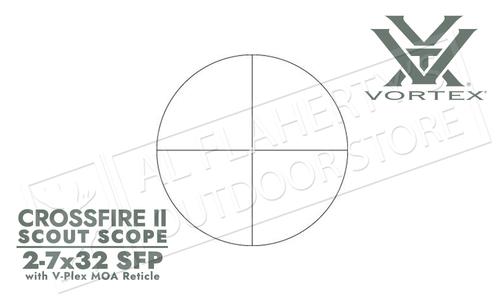 Vortex Crossfire II Scout Scope 2-7x32mm with V-Plex Reticle #CF2-31002