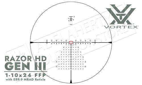 Vortex Razor HD Gen III Scope 1-10x24mm with mrad Reticle #RZR-11002