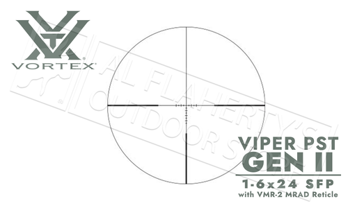 Vortex Viper PST Gen II SFP Scope 1-6x24mm with VMR-2 mrad Reticle #PST-1607