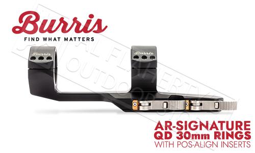 Burris AR-Signature QD P.E.P.R. Quick Release 30mm with Pos-Align Inserts #410352