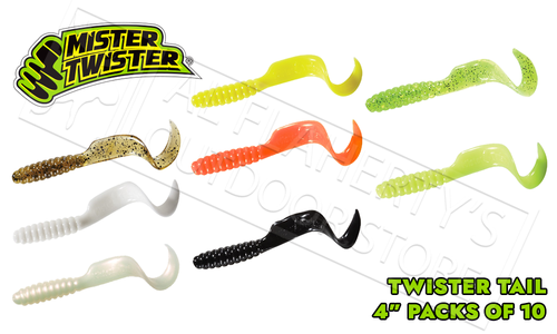 "Mister Twister Twister Tail, 4"" Packs of 10 #4T10"