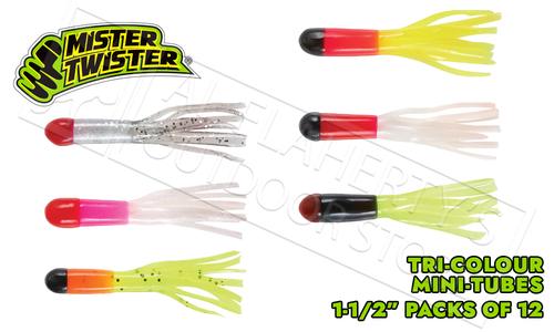 "Mister Twister Tri-Color Mini Tubes, 1-1/2"" Packs of 12 #TCMT12"