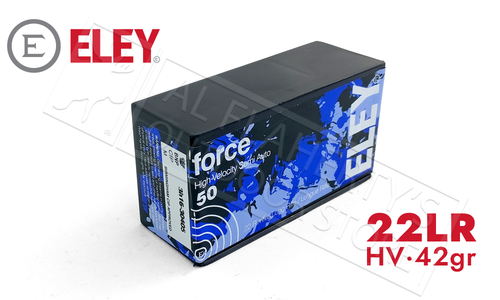 Eley 22LR Force 42 Grain Box of 50 Rounds #02400