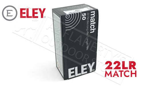 Eley 22LR Match 40 Grain Box of 50 Rounds #01100