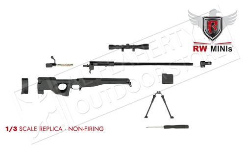 Ravenwood .338 Black Sniper Rifle Mini Replica 1/3 Scale #RWBLKAWM