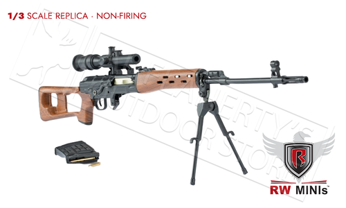 Ravenwood SVD Dragunov Sniper Rifle Mini Replica 1/3 Scale #RWWDSVD