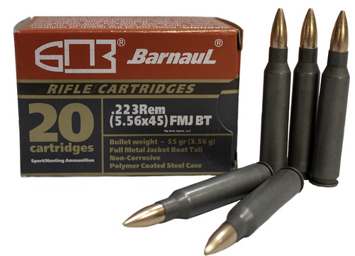 MFS/Barnaul .223 FMJ, 55 or 62 Grain, Case of 500 Rounds