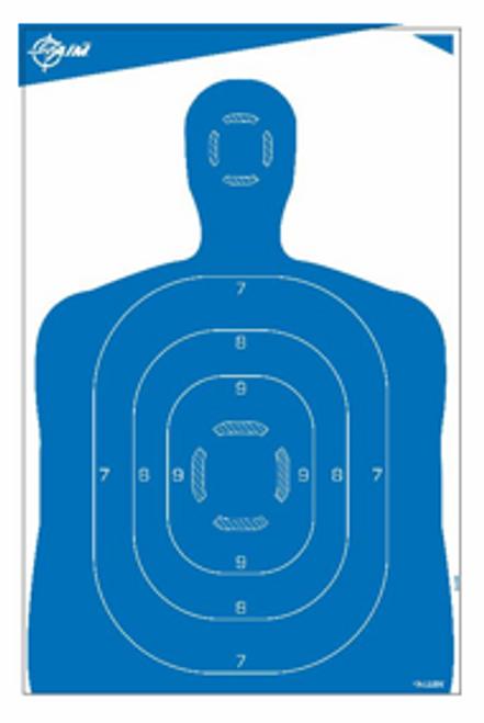 "Allen EZAim Paper 23""x35"" Silhouette Blue Target 4 Pack #15331"