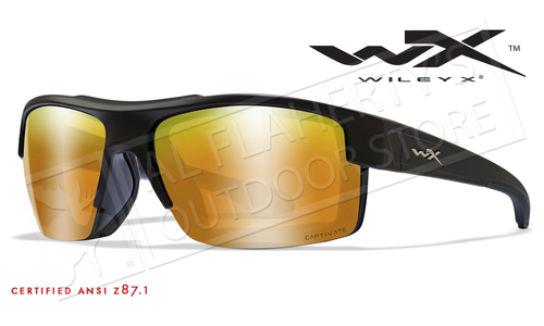 Wiley X Compass Safety Sunglasses with Captivate Polarized Bronze Mirror Lenses #CCCMP06