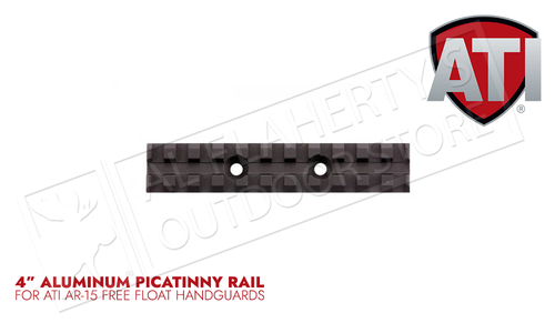 "ATI 4"" Aluminum AR-15 Forend Picatinny Rail #A.5.10.1340"