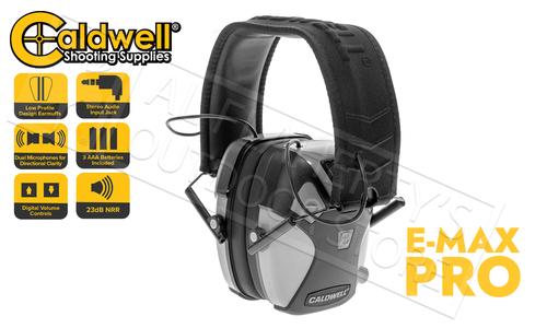 Caldwell E-Max Pro Earmuff - Stereo NRR 23dB #1099602