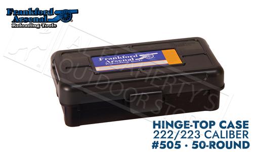 Frankford Arsenal Hinge-Top Ammo Box 505 -50 Round Capacity 222/223 #1083786