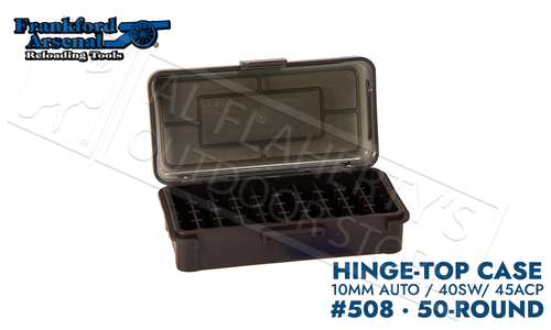 Frankford Arsenal Hinge-Top Ammo Box 508-50 Round Capacity 40SW/45ACP #1083792
