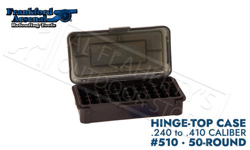 Frankford Arsenal Hinge-Top Ammo Box 510-50 Round Capacity, 240Wby/ 30-06, 270 Win/303B/410 #1083790