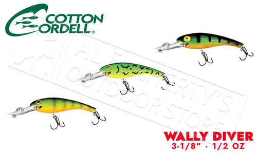 "Cotton Cordell Wally Diver - 3/18"" 1/2 oz #CD6"